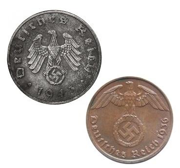 Worldcoins Germany Third Reich 1 Riechspfennig