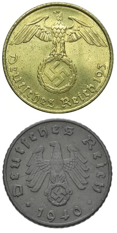 Worldcoins Germany Third Reich 5 Pfennig