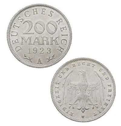 Worldcoins Germany Weimar Republic 200 Mark