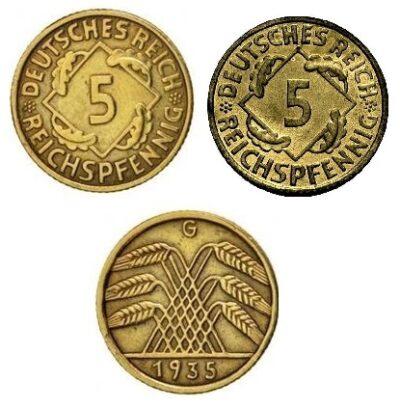 Worldcoins Germany Weimar Republic 5 Pfennig