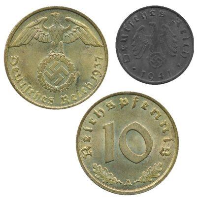 Worldcoins Germany Third Reich 10 Pfennig