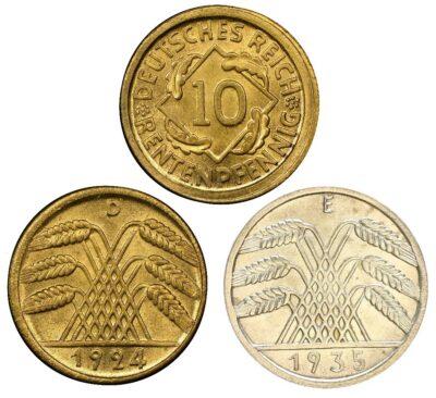 Worldcoins Germany Weimar Republic 10 Pfennig