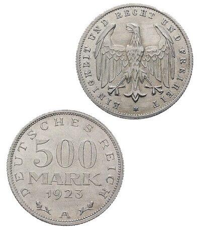 Worldcoins Germany Weimar Republic 500 Mark