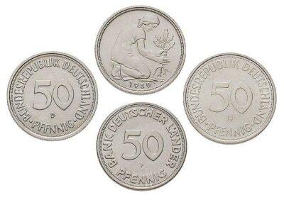 Worldcoins Germany Federal Republic 50 Pfennig