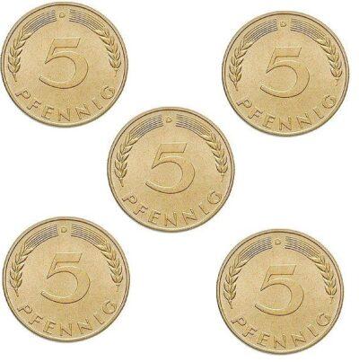 Worldcoins Germany Federal Republic 5 Pfennig