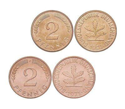 Worldcoins Germany Federal Republic 2 Pfennig