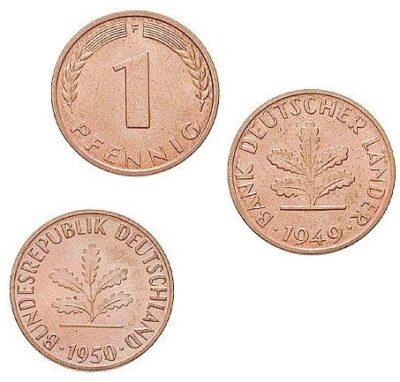 Worldcoins Germany Federal Republic 1 Pfennig